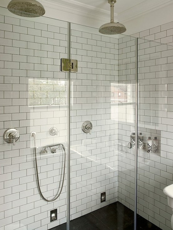 Model Whitre Metro Tiles Grey Grout  Bathrooms  Pinterest
