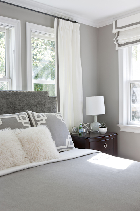 Gray Bedroom - Transitional - bedroom - Roxanne Lumme Interiors