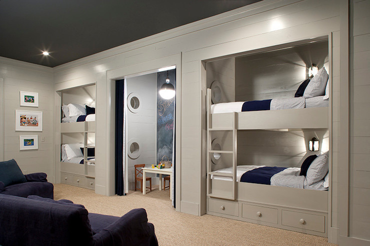 Built In Bunk Beds Traditional Boy S Room Keystone Kitchen And