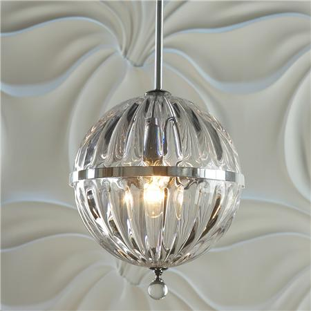 cyan design janus wide chrome pendant light look 4 less. Black Bedroom Furniture Sets. Home Design Ideas