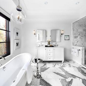 White and Gray Bathroom, Contemporary, bathroom, The Design Company