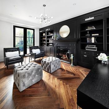 Black Built Ins, Contemporary, den/library/office, The Design Company