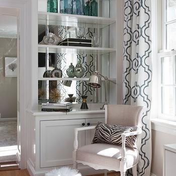 Mirrored Backsplash, Contemporary, living room, Roxanne Lumme Interiors