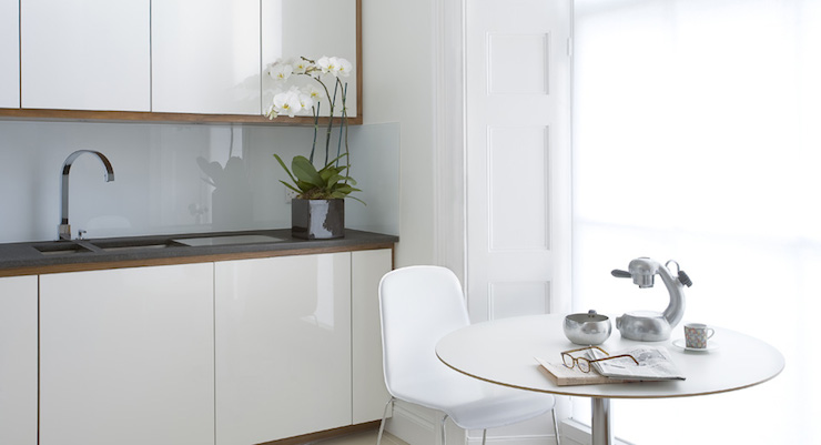 White Lacquer Cabinets Modern Kitchen Leivars