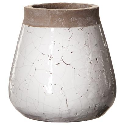 threshold chunky stoneware vase white crackle i target 26412