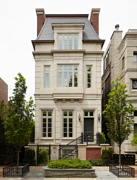 Mansard roof french home exterior burns and beyerl French country architecture residential