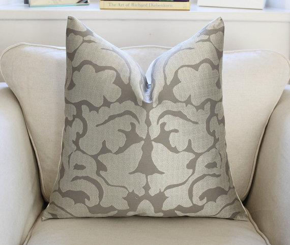imperia silver and grey pillow cover