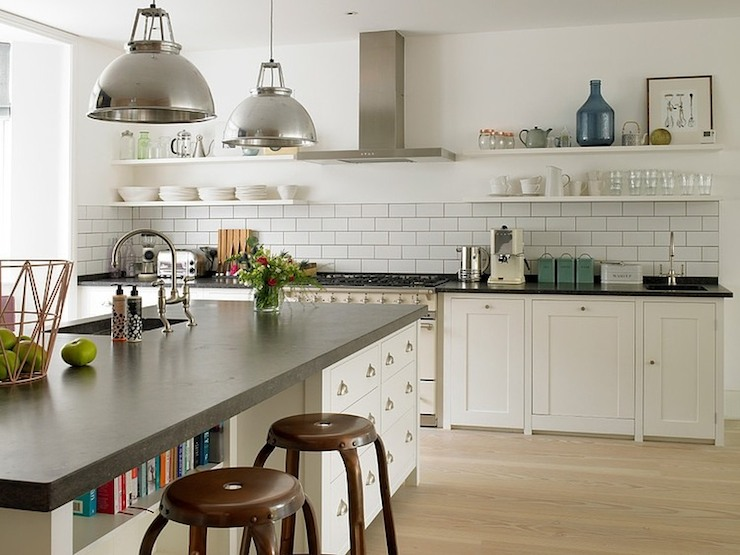 Kitchens - White Cabinets With Copper Cup Pulls