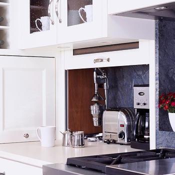 Hidden Kitchen Desk Cabinet Design Ideas