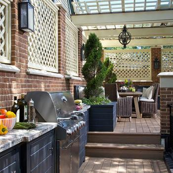 Outdoor Kitchen, Transitional, deck/patio, Burns and Beyerl Architects
