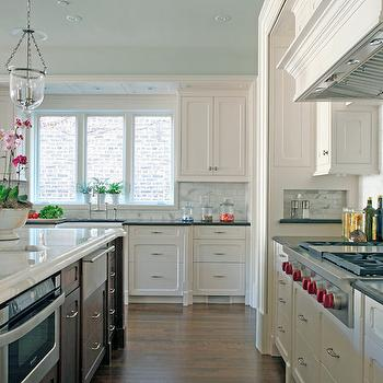 Blue Ceiling, Transitional, kitchen, Benjamin Moore Ocean Air, Burns and Beyerl Architects