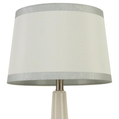 Threshold linen white lamp shade with silver trim mozeypictures