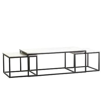 Set of Nesting Coffee Tables, Wisteria