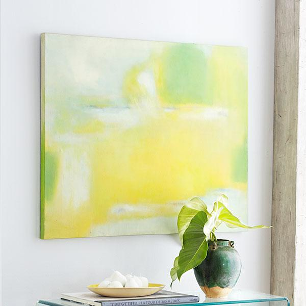 Spring Green and Yellow Meadow Wall Art