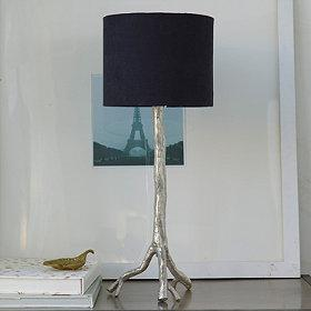 Piper silver table lamp base with lampshade aloadofball Choice Image
