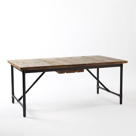 industrial dining furniture. Emmerson Industrial Expandable Brown Dining Table Furniture F