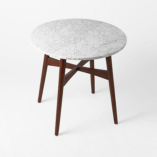 Reeve Mid Century Gray And Brown Bistro Table