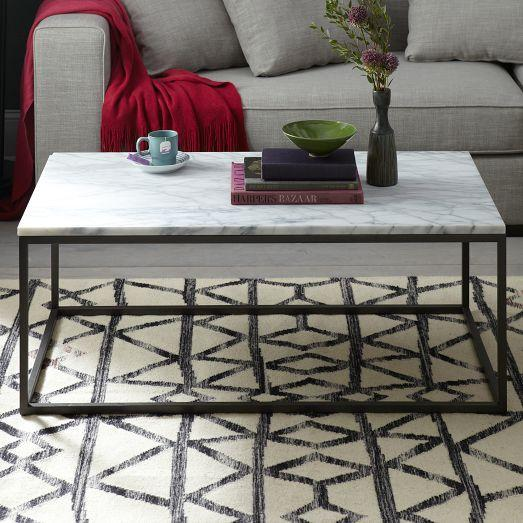 Box Frame Black And Grey Coffee Table