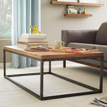 rustic storage mango wood coffee table