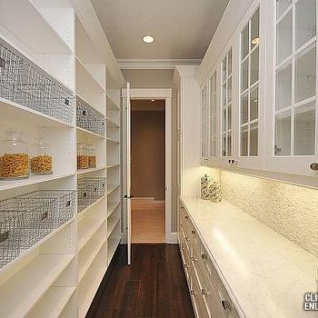 Walk through butlers pantry design ideas for Large walk in pantry