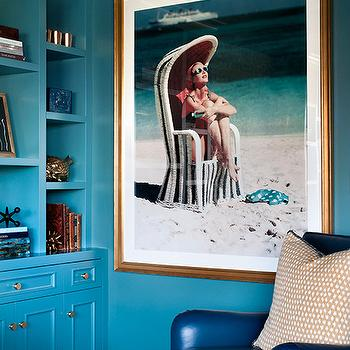 Turquoise Cabinets, Contemporary, living room, Kendall Wilkinson Design