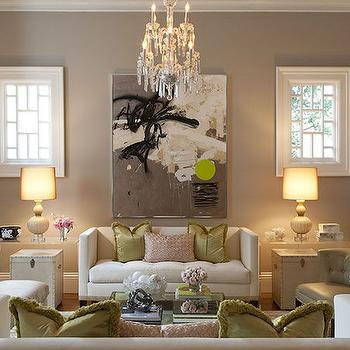 Acrylic End Tables, Contemporary, living room, Kendall Wilkinson Design