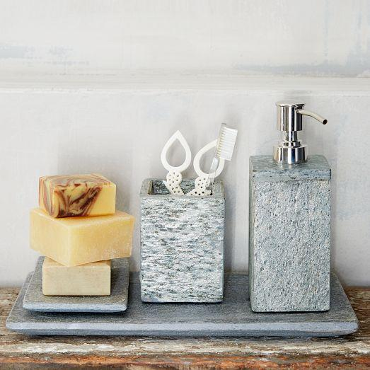 Grey Slate Bath Accessories - Slate bathroom accessories