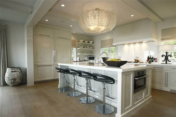 Countertop Microwave In Island : island accented with white marble countertop and built-in microwave ...