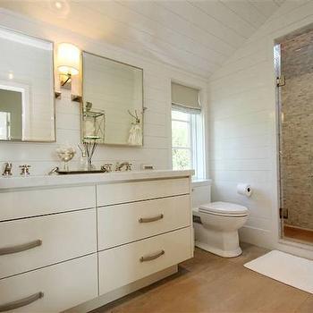 Master bathroom ideas transitional bathroom at home for Sloped ceiling bathroom designs