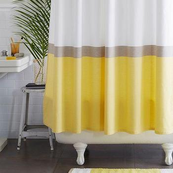 Yellow Dip Dye Shower Curtain by IGH