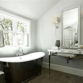 Scalloped Mirror Transitional Bathroom Andrew Howard