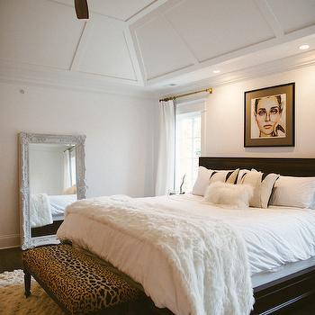 Leopard Bench, Transitional, bedroom, Bijou and Boheme