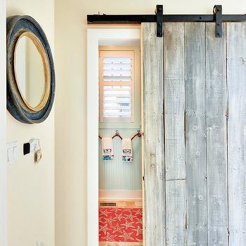 Bathroom Barn Door, Cottage, bathroom, Echelon Custom Homes