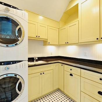 Yellow Cabinets, Transitional, laundry room, Echelon Custom Homes