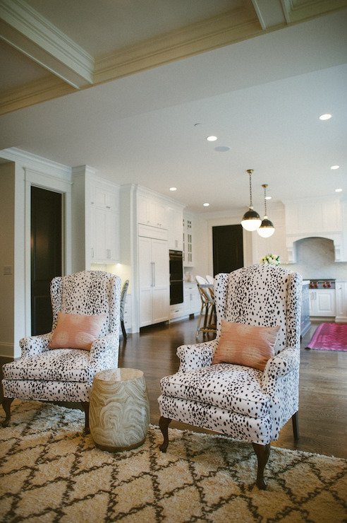 white wingback chairs design ideas