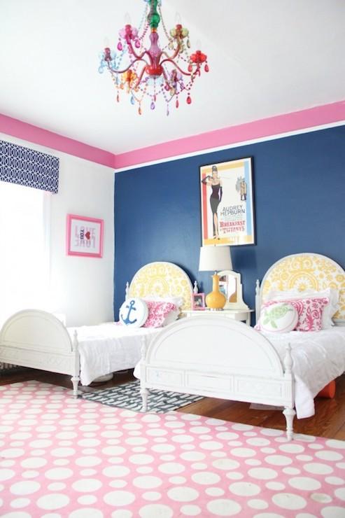 Navy Blue Headboard Contemporary Girl S Room Alisha Gwen