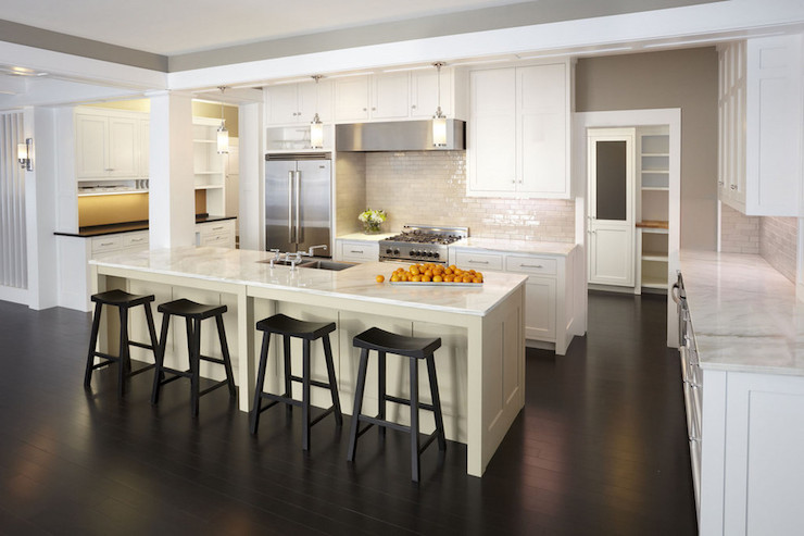 Long Kitchen Island Transitional Kitchen TEA2 Architects