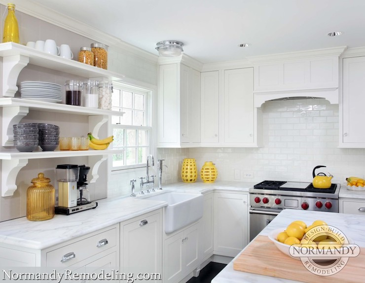 Yellow Accents Transitional Kitchen Normandy Remodeling
