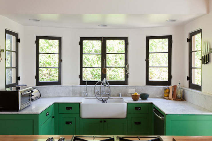 green cabinets - Green Kitchen Cabinets