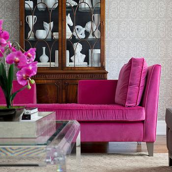 Living rooms Pink Damask Cushions Design Ideas