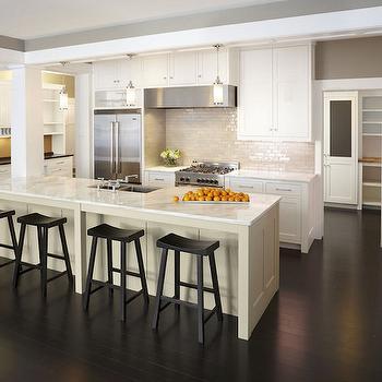 Long Kitchen Island, Transitional, kitchen, TEA2 Architects