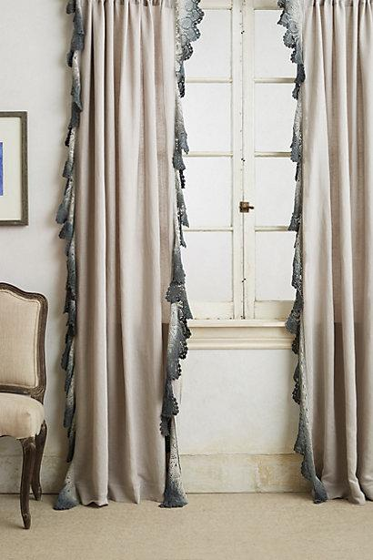 Ombre Grey Lace Curtain