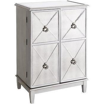 Z Gallerie Salvatore Antiqued Mirrored Bar Cabinet