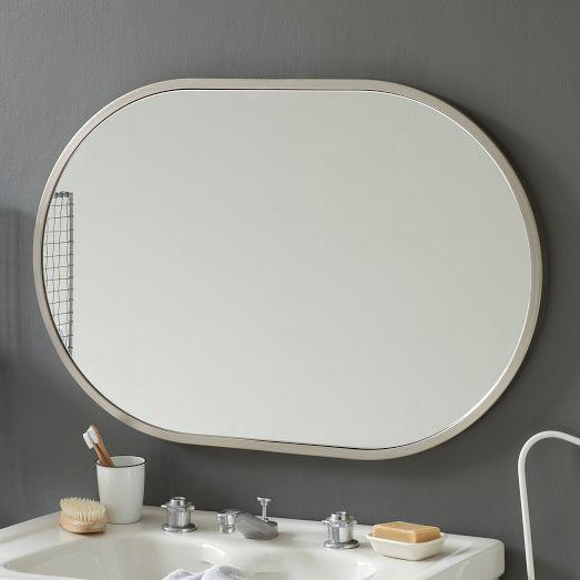view full size - Brushed Nickel Mirror