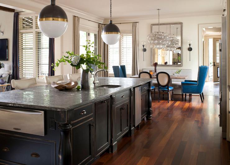 distressed kitchen island - eclectic - kitchen - heather garrett