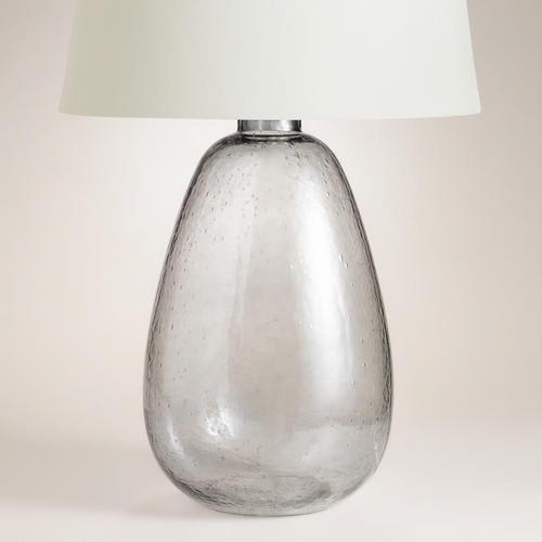 Smoke Clear Glass Table Lamp Base