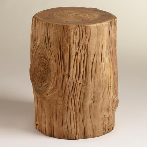 Awesome Teak Natural Tree Stump Table Home Interior And Landscaping Eliaenasavecom