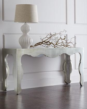 Harmony Antique Silver Console Table