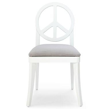 happy chic by jonathan adler crescent heights grey and white peace chair
