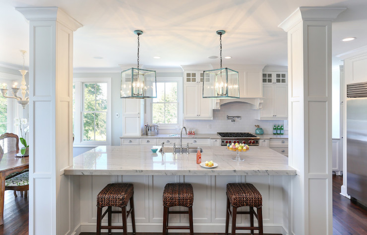 Turquoise Lanterns Transitional Kitchen Charleston